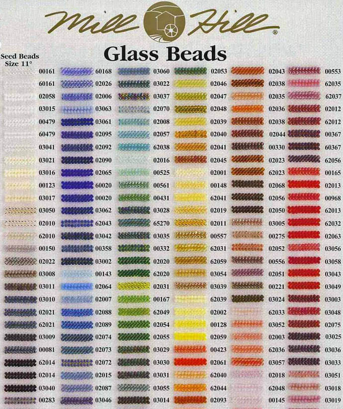 Mill HIll Beads Color Chart 1