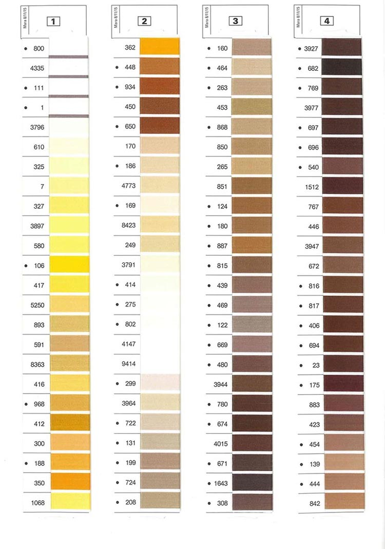 Gutermann Mara Shade Card 1