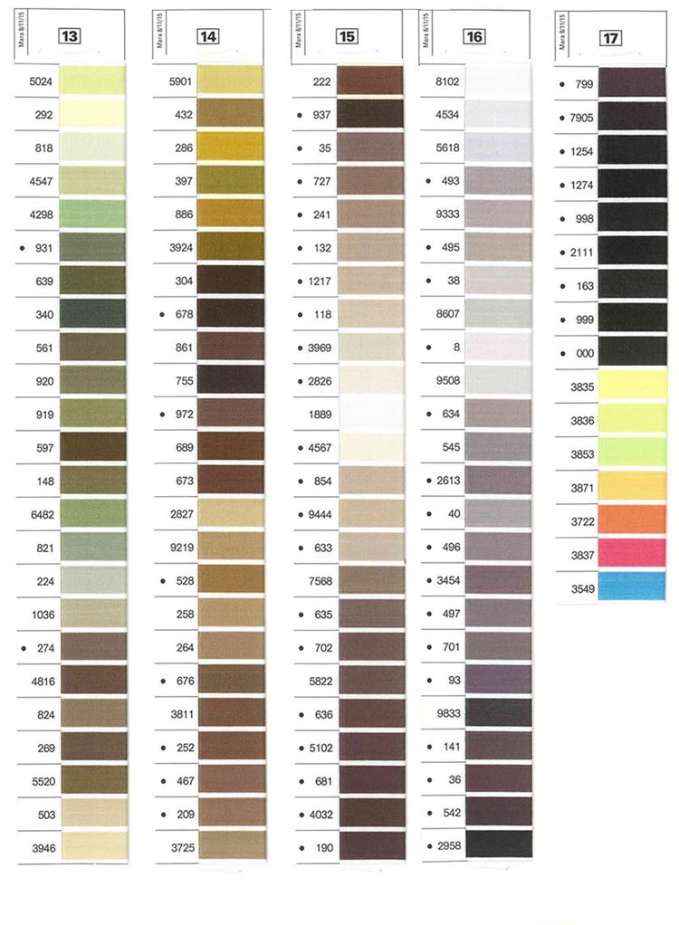 Gutermann Mara Shade Card 5