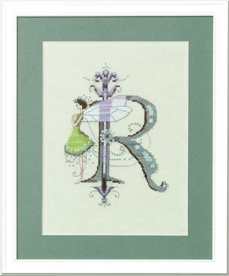 Letters From Nora - R - Cross Stitch Pattern