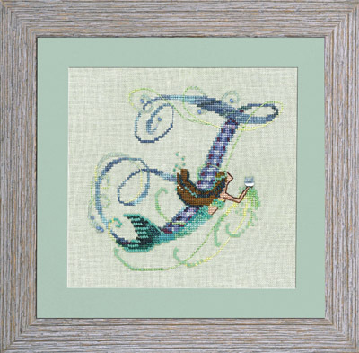 Letters From Mermaids F - Cross Stitch Pattern