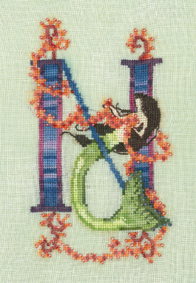Letters From Mermaids N - Cross Stitch Pattern