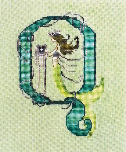 Letters From Mermaids Q - Cross Stitch Pattern