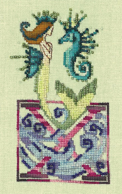 Letters From Mermaids X - Cross Stitch Pattern