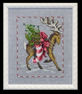 Prancer - Christmas Eve Couriers - Cross Stitch Pattern
