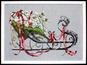 Santa's Sleigh - Christmas Eve Couriers Cross Stitch Pattern