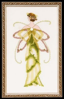 Amaryllis Spring Garden Pixie - Cross Stitch Pattern