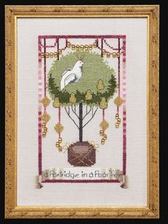 Partridge in a Pear Tree - 12 Days of Christmas Cross Stitch