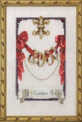 Five Golden Rings - 12 Days of Christmas - Cross Stitch