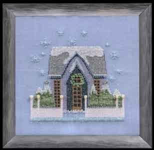 Little Snowy Gray Cottage - Cross Stitch Pattern
