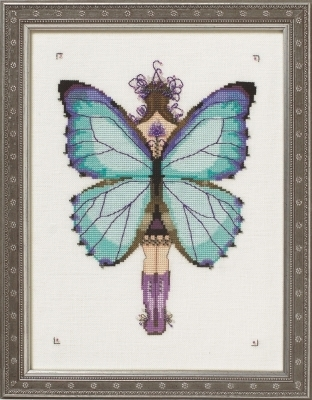 Miss Aurora Morpho - Cross Stitch Pattern