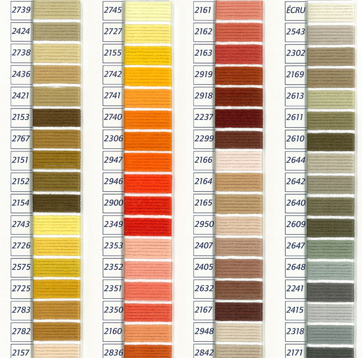DMC Retors Color Chart 3